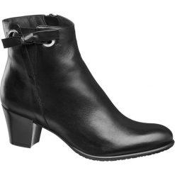 Botki damskie 5th Avenue czarne. Czarne botki damskie na obcasie marki 5th Avenue, z materiału, na zamek. Za 239,90 zł.