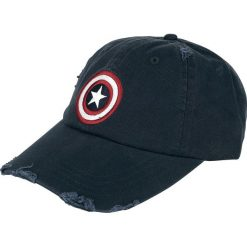 Captain America Logo - Vintage Czapka baseballowa granatowy. Niebieskie czapki z daszkiem damskie Captain America. Za 79,90 zł.