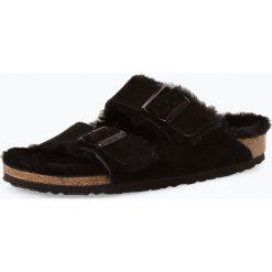 Birkenstock - Sandały damskie ze skóry – Arizona Fur, czarny. Szare sandały damskie marki Birkenstock, z materiału. Za 479,95 zł.