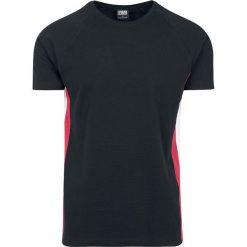 T-shirty męskie: Urban Classics Raglan Side Stripe Tee T-Shirt czarny/czerwony/biały