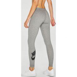 Nike - Legginsy. Szare legginsy we wzory Nike, m, z bawełny. Za 119,90 zł.