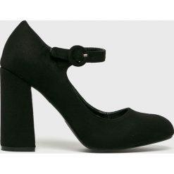 Answear - Czółenka Tulipano. Szare buty ślubne damskie marki ANSWEAR, z materiału, z okrągłym noskiem, na obcasie. W wyprzedaży za 99,90 zł.