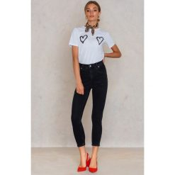 Boyfriendy damskie: Cheap Monday Czarne dżinsy Donna Friday - Black