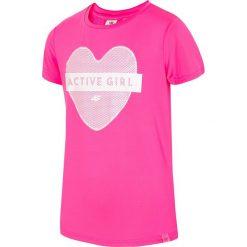Bluzki dziewczęce: Koszulka sportowa dla dużych dziewcząt JTSD404 – FUKSJA NEON