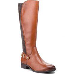 Oficerki CAPRICE - 9-25520-21 Cognac Nappa 303. Brązowe buty zimowe damskie Caprice, z materiału. W wyprzedaży za 409,00 zł.