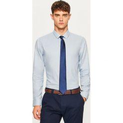 Koszula slim fit z bawełny strukturalnej - Niebieski. Niebieskie koszule męskie slim marki Reserved, l, z bawełny. Za 69,99 zł.