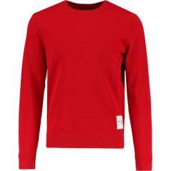 Calvin Klein Jeans SONAT SLIM FIT Sweter tango red. Czerwone kardigany męskie Calvin Klein Jeans, m, z bawełny. Za 399,00 zł.