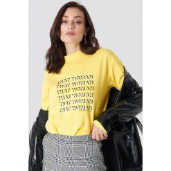 Bluzy damskie: NA-KD Trend Bluza That Woman – Yellow