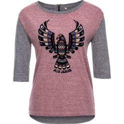 T-shirty damskie: Koszulka w kolorze bordowo-szarym