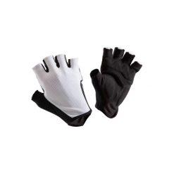 Rękawiczki ROADR 500. Białe rękawiczki damskie B'TWIN, z materiału. W wyprzedaży za 19,99 zł.
