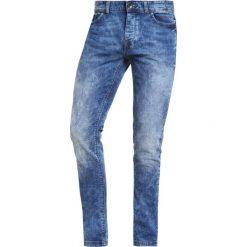 Jeansy męskie: Benetton Jeans Skinny Fit bleached