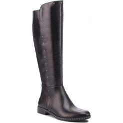 Oficerki CARINII - B4597  E50-000-PSK-C63. Czarne buty zimowe damskie Carinii, z materiału. W wyprzedaży za 409,00 zł.