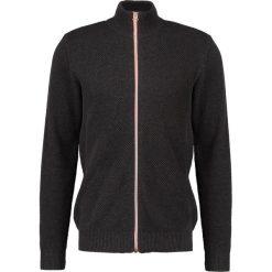 Swetry rozpinane męskie: Kronstadt ERIK  Kardigan charcoal melange/orange