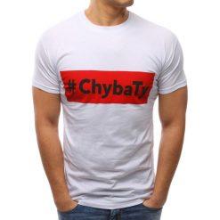 T-shirty męskie z nadrukiem: T-shirt męski z nadrukiem biały (rx2665)