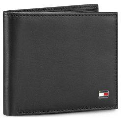 Duży Portfel Męski TOMMY HILFIGER - Eton Mini Cc Wallet AM0AM00655/83365 Black 002. Czarne portfele męskie TOMMY HILFIGER, ze skóry. Za 229,00 zł.