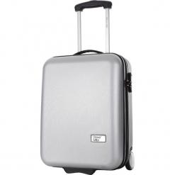 Walizka w kolorze srebrnym - 36 l. Szare walizki Bagstone & Travel One, z materiału. W wyprzedaży za 199,95 zł.