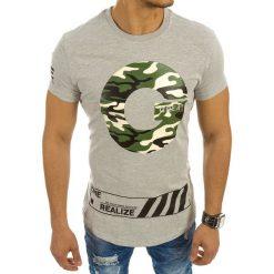T-shirty męskie z nadrukiem: T-shirt męski z nadrukiem szary (rx2144)