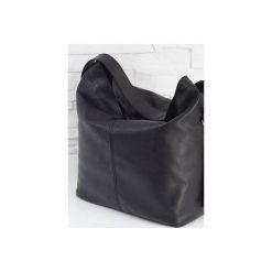 Skórzana Shopper boho black classic. Czarne shopper bag damskie Fabiola, z materiału, duże. Za 281,00 zł.