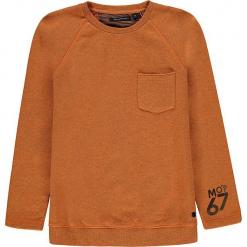 Bluza w kolorze pomarańczowym. Brązowe bluzy chłopięce rozpinane marki Marc O'Polo Junior, z bawełny. W wyprzedaży za 105,95 zł.