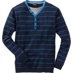 Swetry męskie: Sweter 2 w 1 Regular Fit bonprix ciemnoniebieski w paski