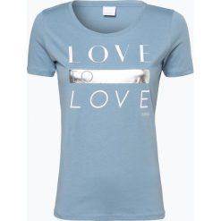 T-shirty damskie: BOSS Casual – T-shirt damski – Teslogan, niebieski