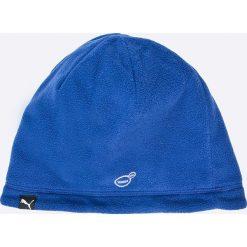 Puma - Czapka dwustronna. Niebieskie czapki zimowe męskie Puma, na zimę, z dzianiny. W wyprzedaży za 34,90 zł.