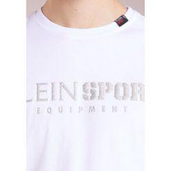 Plein Sport ROUND NECK BY YOU Tshirt z nadrukiem white/silver. Białe koszulki polo marki Plein Sport, l, z nadrukiem, z bawełny. W wyprzedaży za 383,40 zł.
