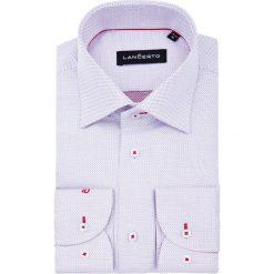 Koszula Biała w Kropki Coco. Białe koszule męskie na spinki marki LANCERTO, m, w kropki, z bawełny. W wyprzedaży za 199,90 zł.