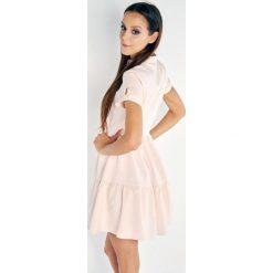 Sukienki hiszpanki: Sukienka rozkloszowana z guzikami ml-1