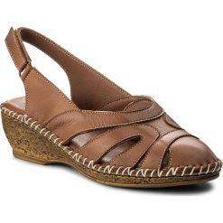 Rzymianki damskie: Sandały LANQIER – 40C1429 Brown