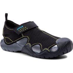Sandały CROCS - Swiftwater Sandal M 15041 Black/Charcoal. Czarne sandały męskie skórzane Crocs. Za 219,00 zł.
