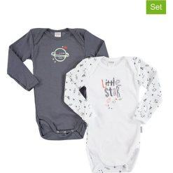 Body niemowlęce: Body (2 szt.) w kolorze białym i szarym