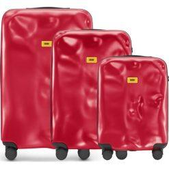 Walizki Icon w zestawie 3 el. matowy czerwony. Szare walizki marki Crash Baggage, z materiału. Za 2628,00 zł.