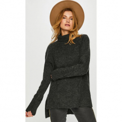 Vero Moda - Sweter. Czarne golfy damskie marki Vero Moda, l, z dzianiny, z krótkim rękawem. W wyprzedaży za 99,90 zł.