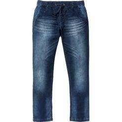 """Dżinsy dresowe Regular Fit Straight bonprix ciemnoniebieski """"used"""". Zielone jeansy męskie regular marki bonprix, w kropki, z kopertowym dekoltem, kopertowe. Za 109,99 zł."""