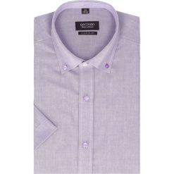 Koszula bexley 2511 krótki rękaw regular fit fiolet. Fioletowe koszule męskie na spinki Recman, na zimę, m, z bawełny, button down, z krótkim rękawem. Za 89,99 zł.
