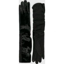 Answear - Rękawiczki. Czarne rękawiczki damskie ANSWEAR. W wyprzedaży za 48,90 zł.