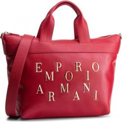 Torebka EMPORIO ARMANI - Y3D106 YH59A 80133  Ruby Red. Szare torebki klasyczne damskie marki Emporio Armani, l, z nadrukiem, z bawełny, z okrągłym kołnierzem. Za 1239,00 zł.