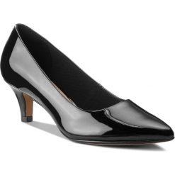 Półbuty CLARKS - Linvale Jerica 261381974 Black Patent Leather. Czarne półbuty damskie skórzane Clarks, na obcasie. W wyprzedaży za 229,00 zł.