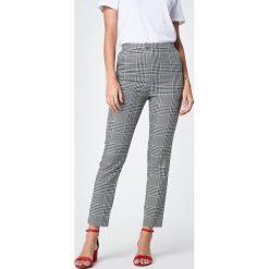 Spodnie damskie: NA-KD Classic Spodnie garsonkowe z wysokim stanem w kratę - Multicolor