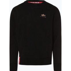 Alpha Industries - Męska bluza nierozpinana, czarny. Czarne bluzy męskie rozpinane marki Alpha Industries, m, z aplikacjami. Za 229,95 zł.