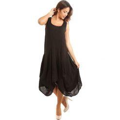 Sukienki: Lniana sukienka w kolorze czarnym