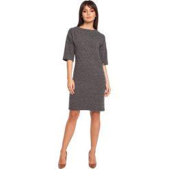 FENELLA Sukienka z jedną kieszenią - grafitowy melanż. Szare sukienki dresowe marki bonprix, melanż, z kapturem, z długim rękawem, maxi. Za 129,99 zł.