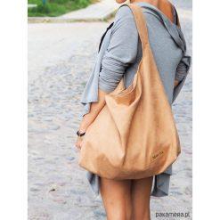 Duża torba worek MC7- camel. Brązowe torebki klasyczne damskie Pakamera, z bawełny, duże. Za 169,00 zł.