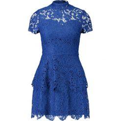 Sukienki: Missguided SHORT SLEEVE LAYER DRESS Sukienka koktajlowa blue