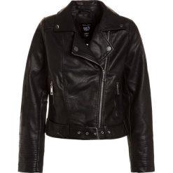 New Look 915 Generation BELTED BIKER JACKET  Kurtka ze skóry ekologicznej black. Czarne kurtki dziewczęce przeciwdeszczowe New Look 915 Generation, z bawełny. Za 149,00 zł.