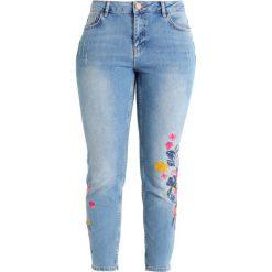 Dorothy Perkins FLORAL DARCY Jeans Skinny Fit stone blue denim. Niebieskie jeansy damskie marki Dorothy Perkins, z bawełny. Za 209,00 zł.
