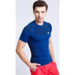 T-shirty męskie: Koszulka treningowa męska TSMF304 – granatowy melanż
