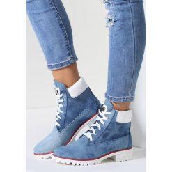 Niebieskie Traperki Speedy Fly. Białe buty zimowe damskie marki vices. Za 59,99 zł.