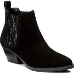 Sztyblety GUESS - Verla FLVER3 SUE09 BLACK. Czarne buty zimowe damskie marki Guess, z materiału. W wyprzedaży za 419,00 zł.